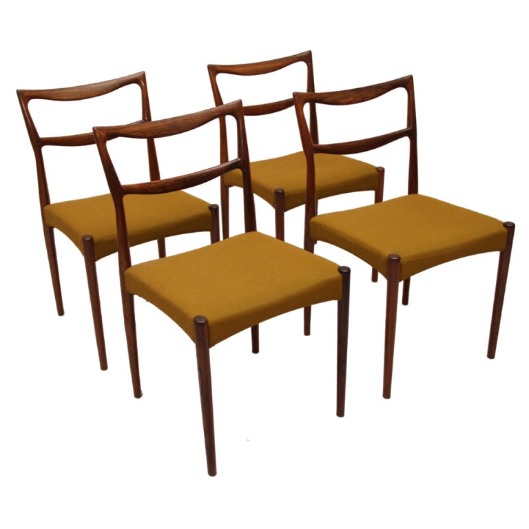 H.W. Klein For Brahmin Rosewood Dining Chairs 1