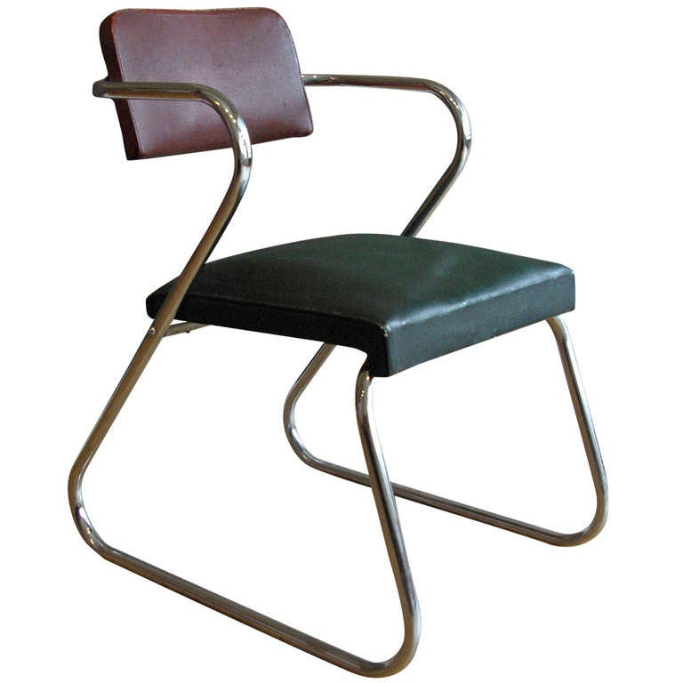 Gilbert Rohde Machine Age Quot Z Quot Chair By Royalchrome At 1stdibs