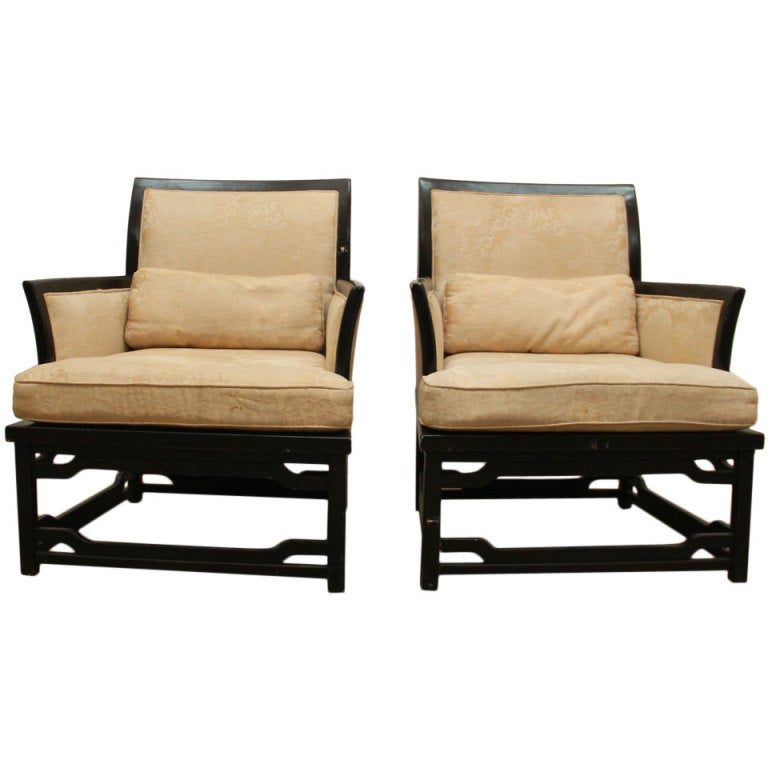 Pair of vintage bernhardt arm chairs at stdibs
