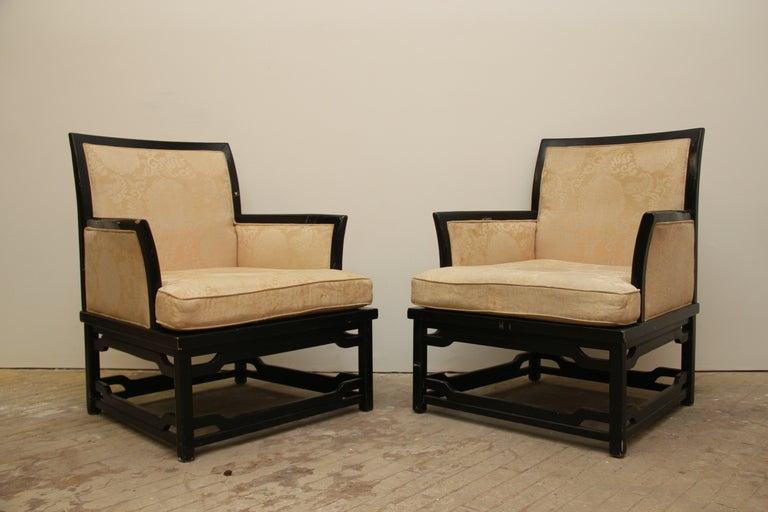 Pair of vintage bernhardt arm chairs at stdibs