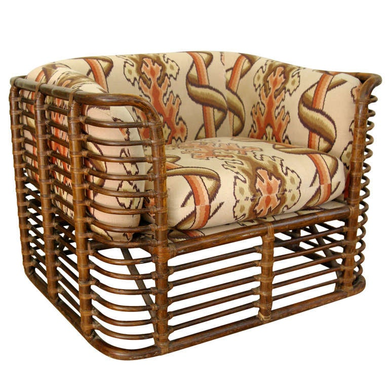 Bamboo Lounge Chair In The Style Of McGuire 1