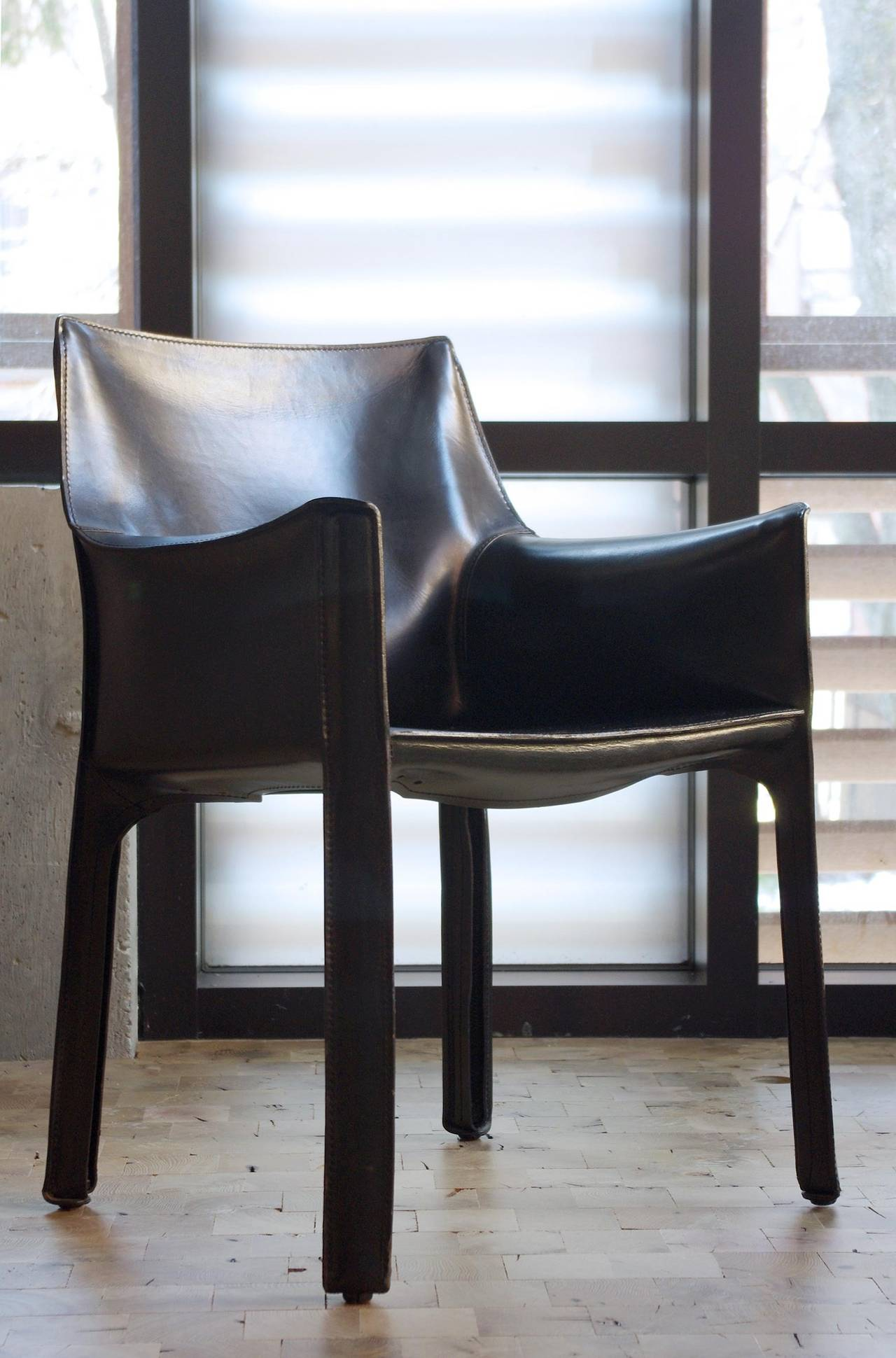 "Set of Six ""413 CAB"" Chairs by Mario Bellini for Cassina at 1stdibs"