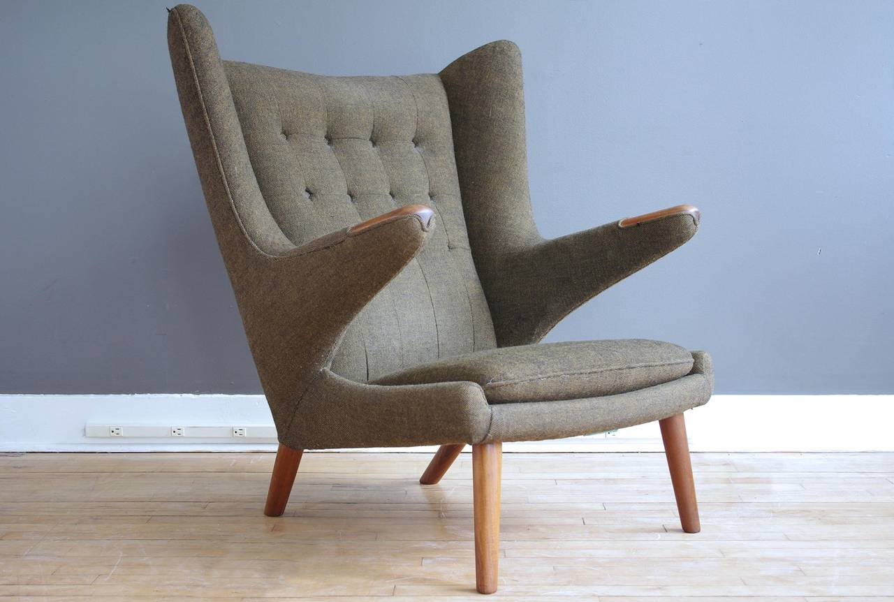 Hans Wegner Quot Papa Bear Quot Chair And Ottoman At 1stdibs