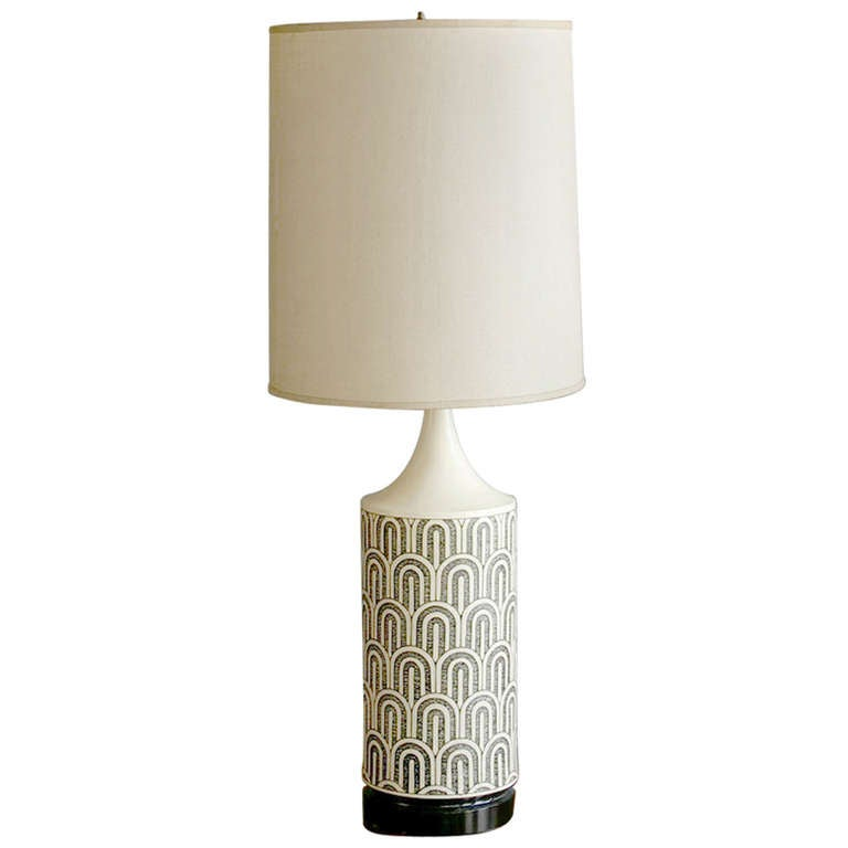 Graphic Black And White Table Lamp At 1stdibs