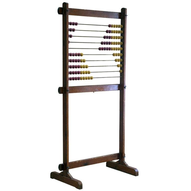 Vintage Large Wood Classroom Abacus At 1stdibs