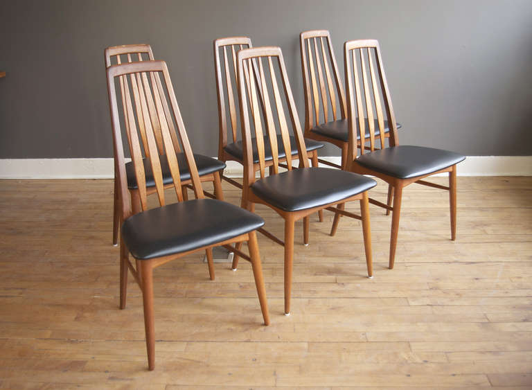 Set Of Six Niels Koefoed Danish Teak Eva Dining Chairs At 1stdibs