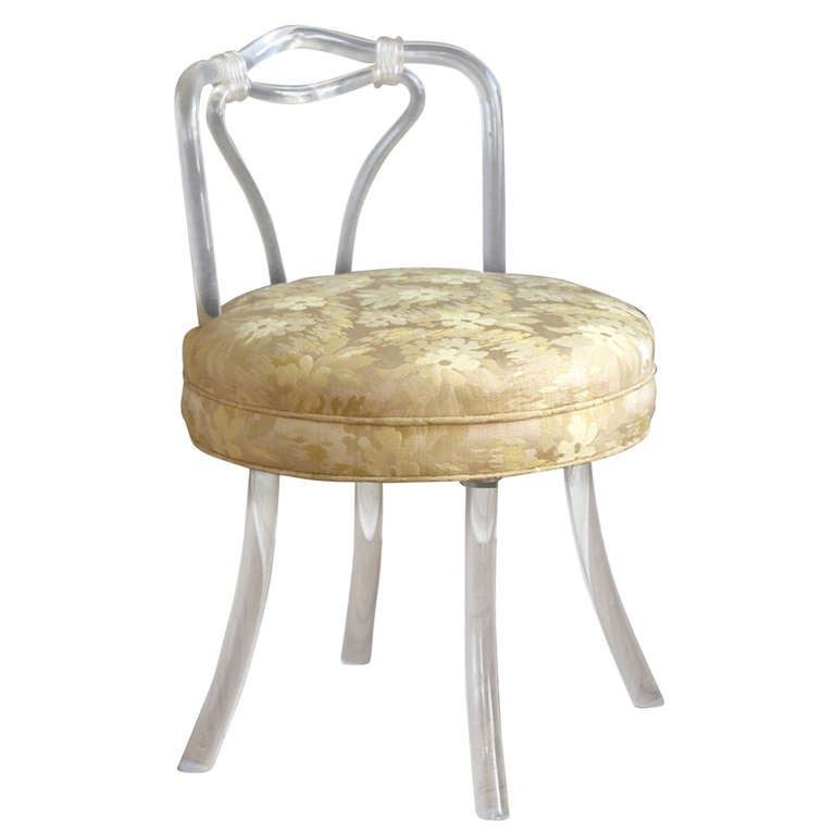 Lucite Vanity Stool In The Style Of Dorothy Thorpe At 1stdibs