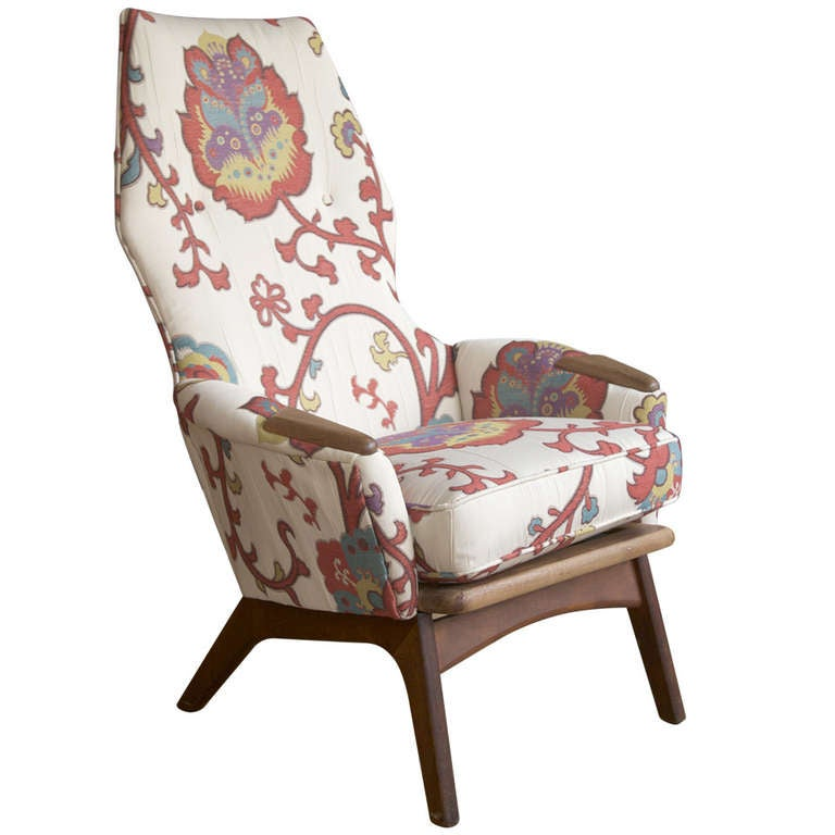 Adrian Pearsall High Back Lounge Chair for Craft Associates at 1stdibs