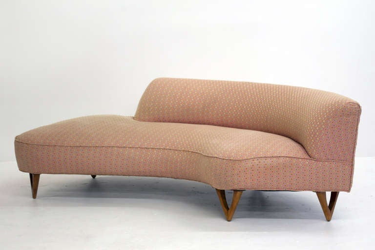 Curved Sofa In The Style Of Vladimir Kagan At 1stdibs
