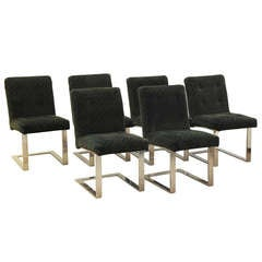 Set of Six Milo Baughman Dining Chairs