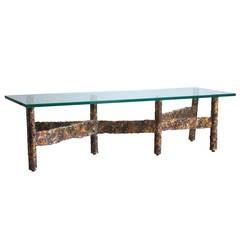 Brutalist Metal Coffee Table