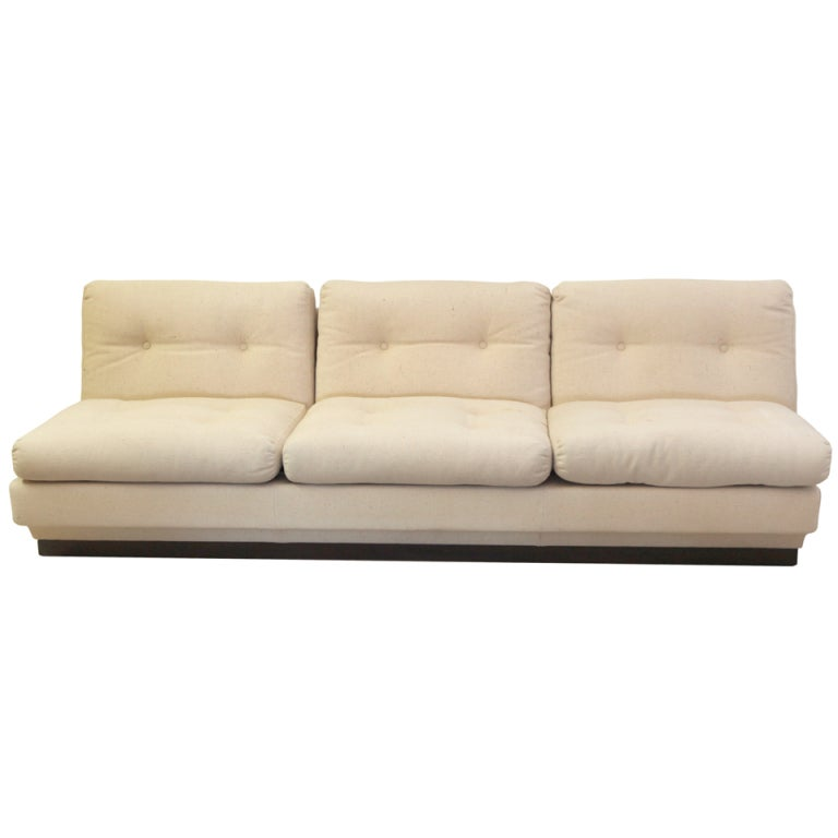 Italian Armless Sofa At 1stdibs