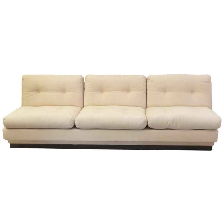 Italian Armless Sofa At 1stdibs