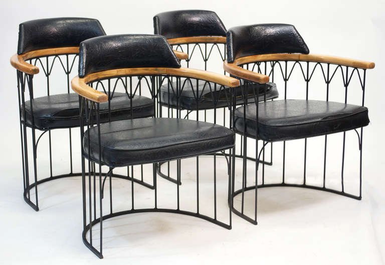 Wrought Iron Dining Set By Russell Woodard 3