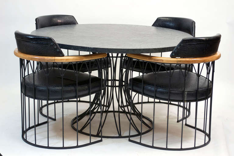 Wrought Iron Dining Set by Russell Woodard at 1stdibs