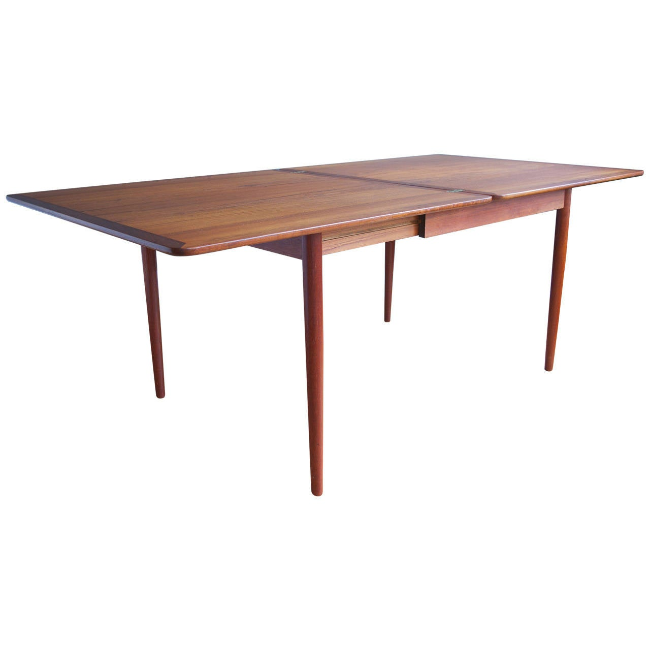 Teak flip top dining table by grete jalk at 1stdibs for Biggest dining table