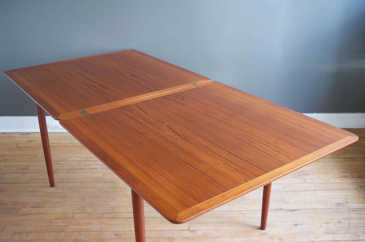 Teak Flip Top Dining Table By Grete Jalk At 1stdibs