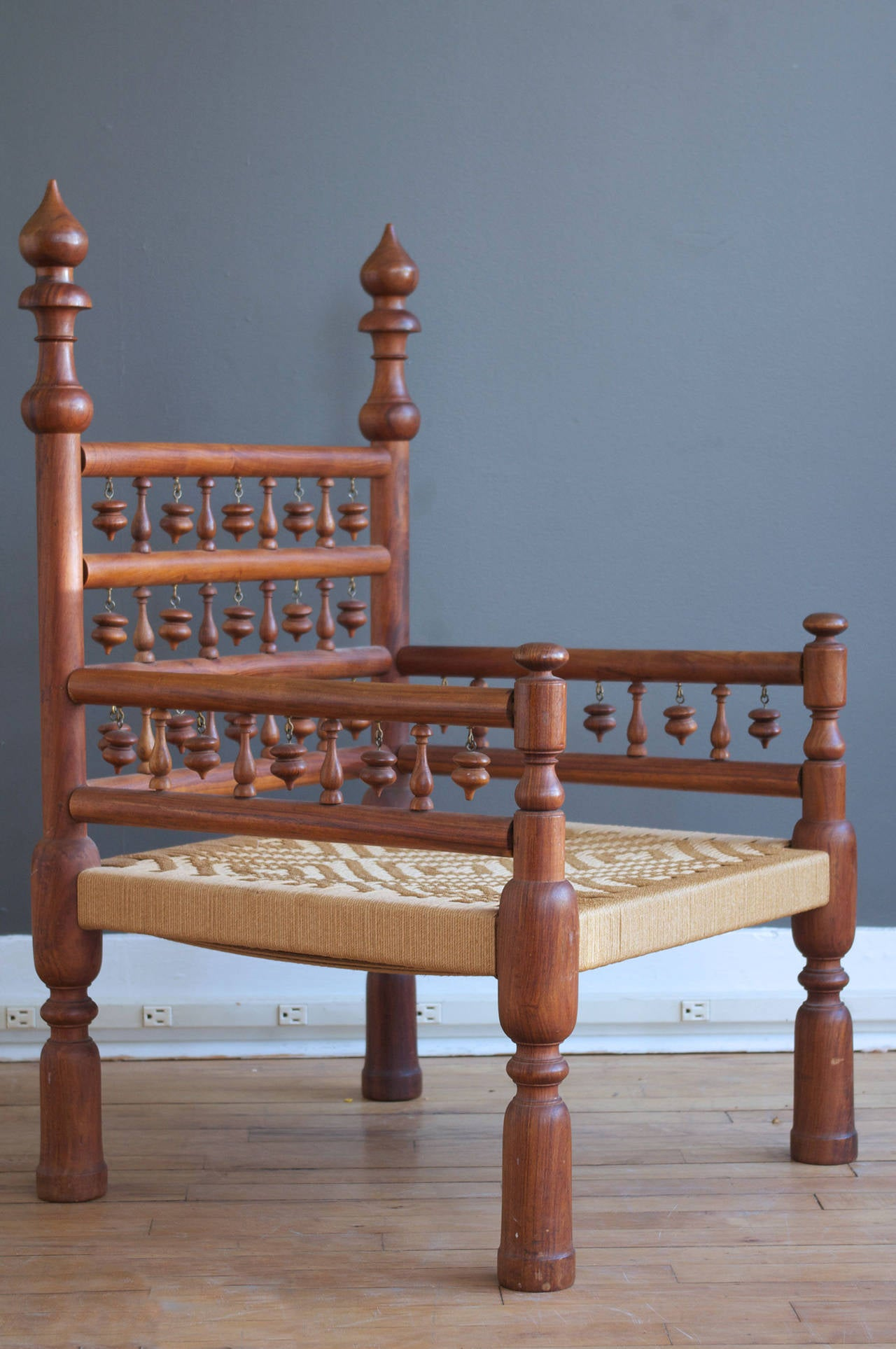 Pair of low indian wedding chairs for sale at 1stdibs