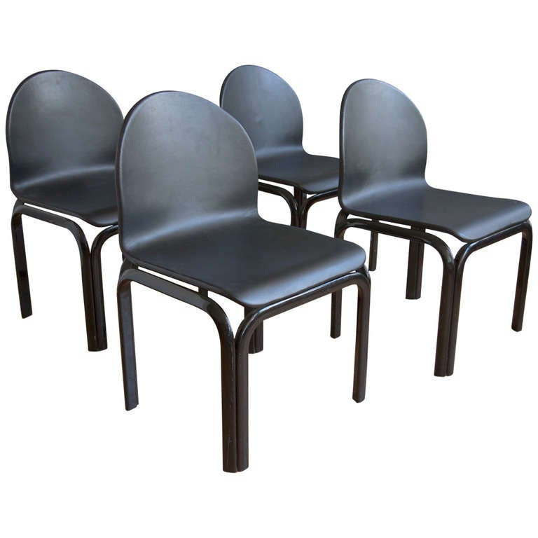 Set of Four Dining Chairs by Gae Aulenti for Knoll