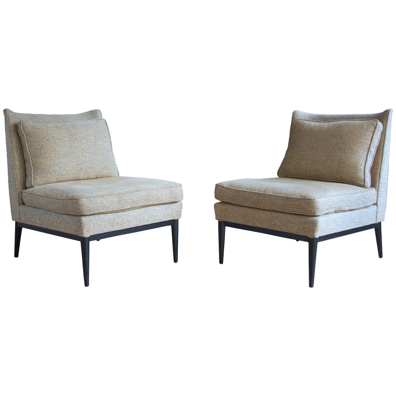 Pair Of Slipper Chairs By Paul Mccobb For Calvin