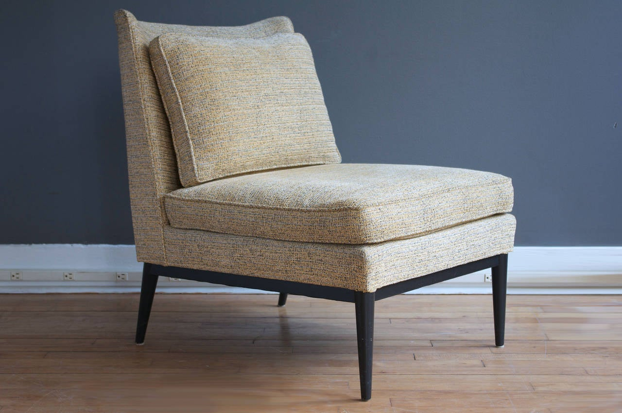 pair of slipper chairs by paul mccobb for calvin at stdibs - pair of slipper chairs by paul mccobb for calvin