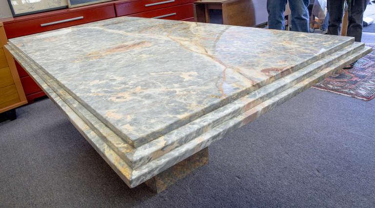 Monumental Italian Marble Dining Table At 1stdibs