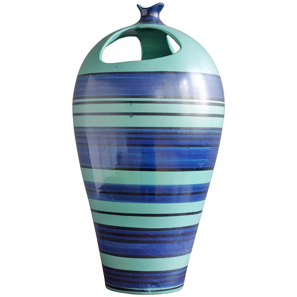 Alvino Bagni Ceramic Vase for Raymor