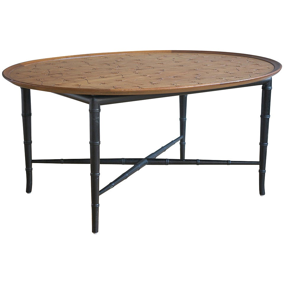 Mahogany coffee table by kittinger for sale at 1stdibs for Mahogany coffee table