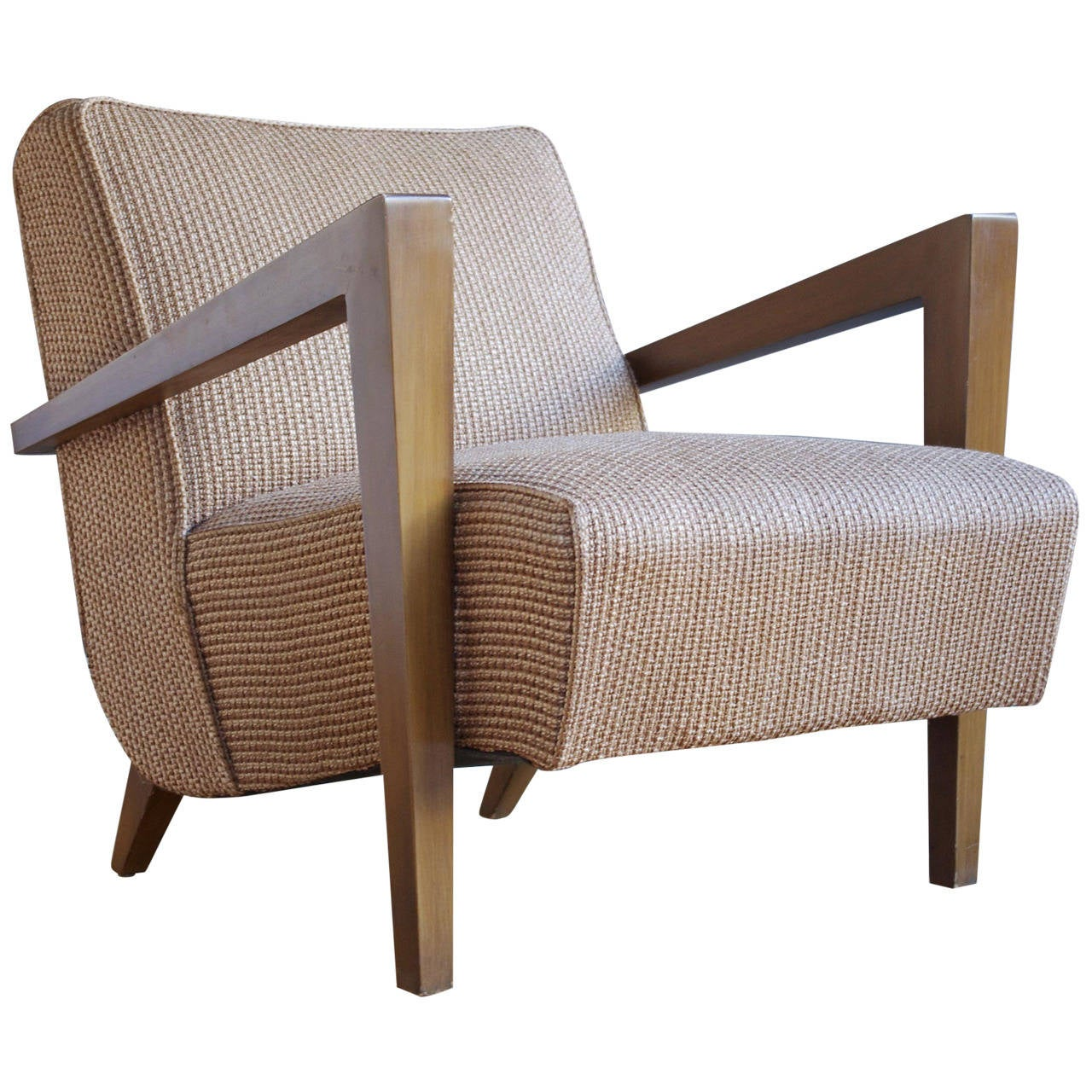 Sculptural mid century modern lounge chair at 1stdibs for Modern lounge furniture