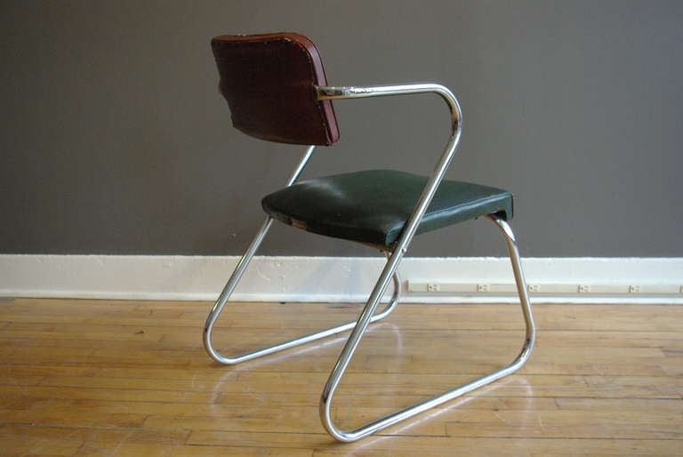 Gilbert Rohde Machine Age Z Chair By Royalchrome At 1stdibs