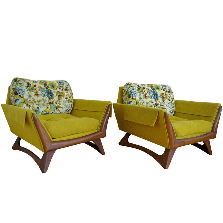 Pair Of Adrian Pearsall Lounge Chairs For Craft Associates