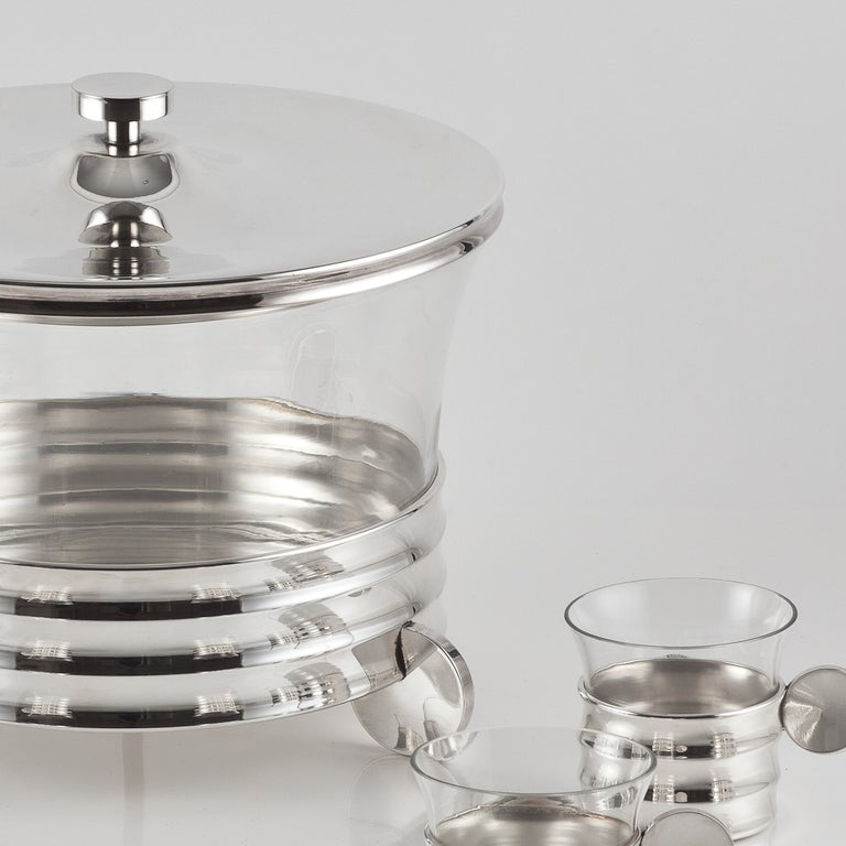 A Celebratory Punch Bowl Set c.1960 In Excellent Condition For Sale In London, GB