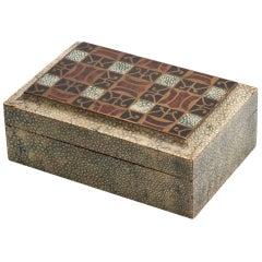 Art Deco Shagreen Box with a Rare Design French c.1925-30