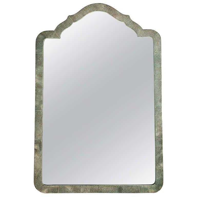 Elegant shagreen french art deco table mirror circa 1930 for Elegant mirrors