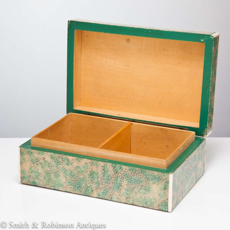 Superb Art Deco Shagreen Box London At 1stdibs