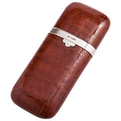 Superb Quality Crocodile Cigar Case by Finnigans, London circa 1915