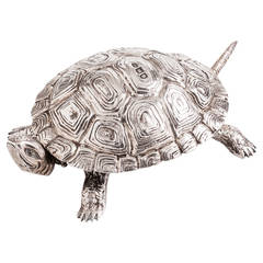Rare Tortoise Novelty Silver Bell Dated London 1897, by Maker Joseph Braham