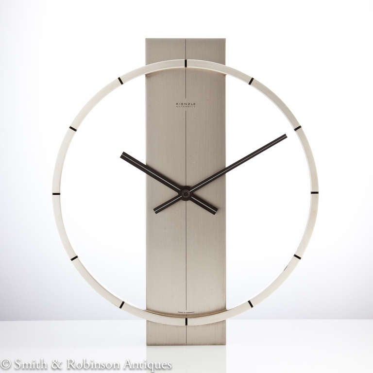 stylish modern design wall clock by kienzle germany c