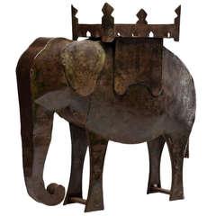 Rustic, Decorative & Figurative Model of an Indian Elephant, circa 1900