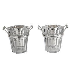 Stunning Pair of Baccarat Champagne Coolers, France circa 1950