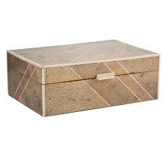 Geometric Art Deco Shagreen Box c.1930