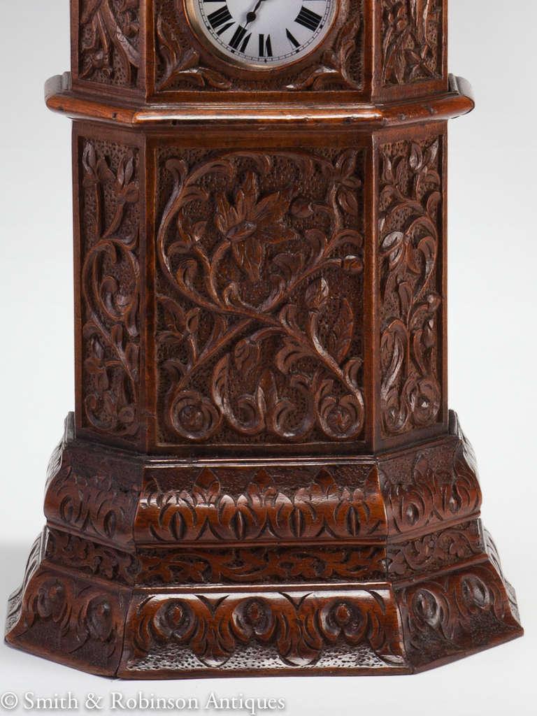 Large Indian Carved Tower Watch Holder, Shimla, 1895 5
