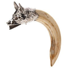 Cigar Cutter in the Form of a Fox's Head c.1910