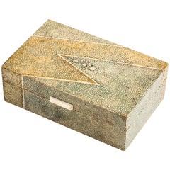 French Art Deco Shagreen Box, circa 1920-1925