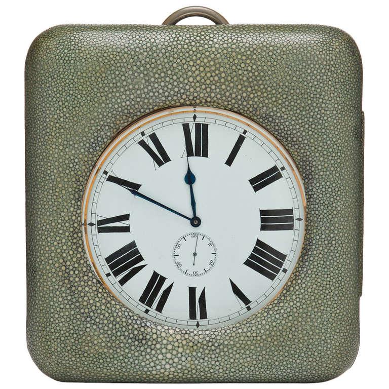 Large Shagreen Encased Goliath Clock 1