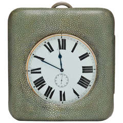 Large Shagreen Encased Goliath Clock