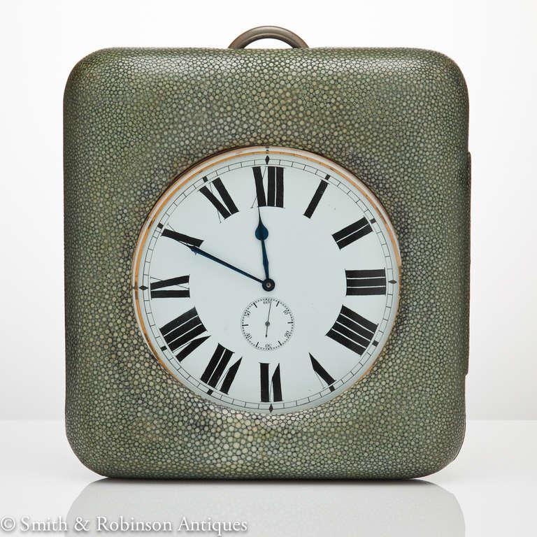 Large Shagreen Encased Goliath Clock 2