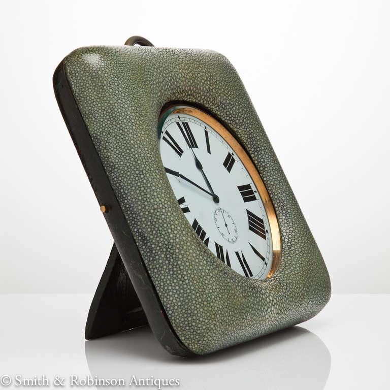 Large Shagreen Encased Goliath Clock 3