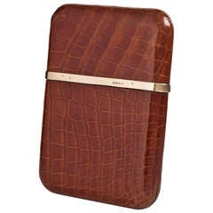 Superb Quality Dunhill Cigar Case with Gold Banding London c.1935