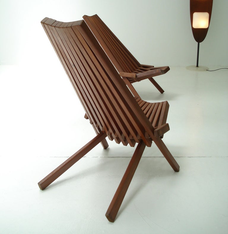 Danish Folding Easy Chairs At 1stdibs